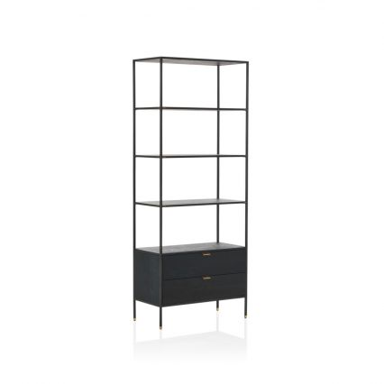 Volterra Timber and Brass Shelving Unit