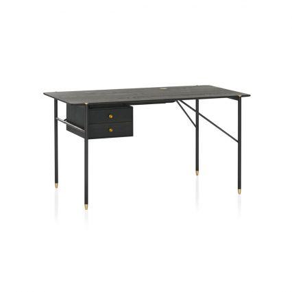 Volterra Timber and Brass Desk