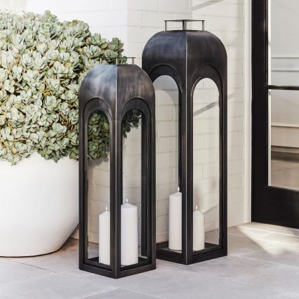 Slate Indoor/Outdoor Lantern