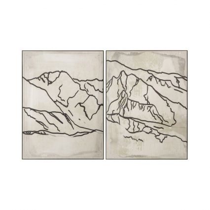 Lilas Range Diptych - Pair