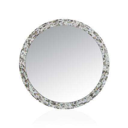 Bloom Round Shell Mirror