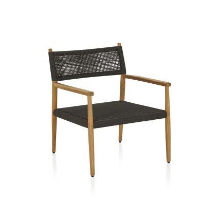 Corso Outdoor Lounge Chair - black