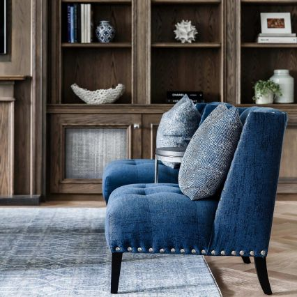 Brentwood Slipper Chair with Studs