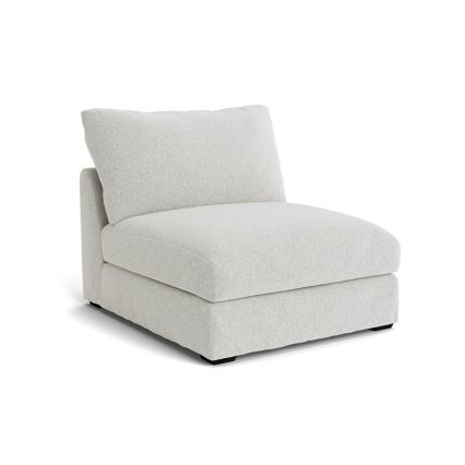 Longbeach Jumbo Modular Sofa Loose Cover 1 Seat Armless