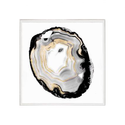 Black & White Geode 3 Wall Art