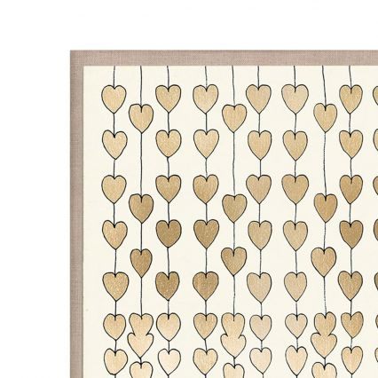Cartier Hearts Gold, Large Wall Art