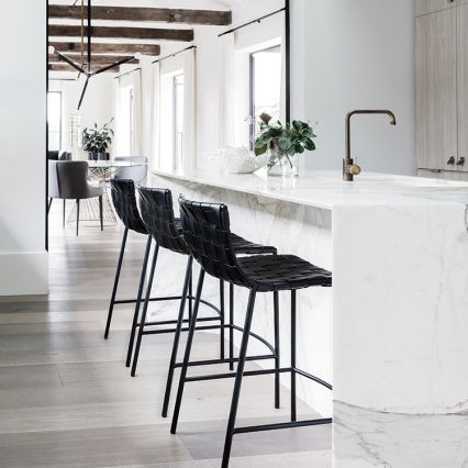 Milano Woven Low Back Kitchen Stool