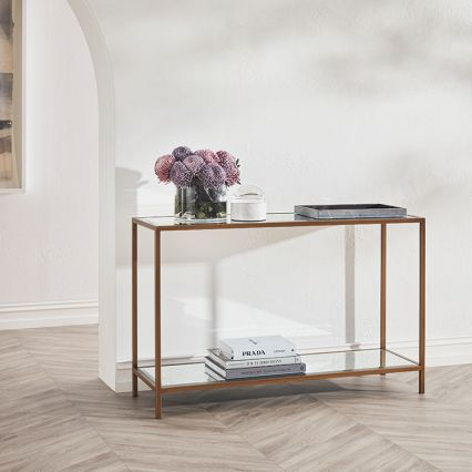 Arden Mirrored Console Table
