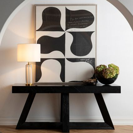 Crystal Column Table Lamp