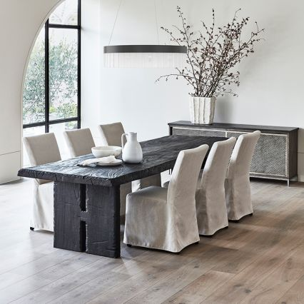 Asha Charred Timber Dining Table