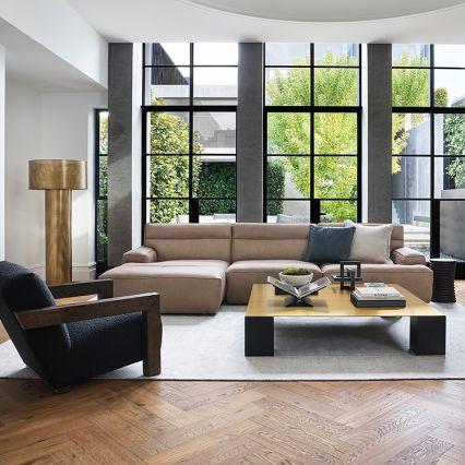 The Alvaro Leather Modular Sofa