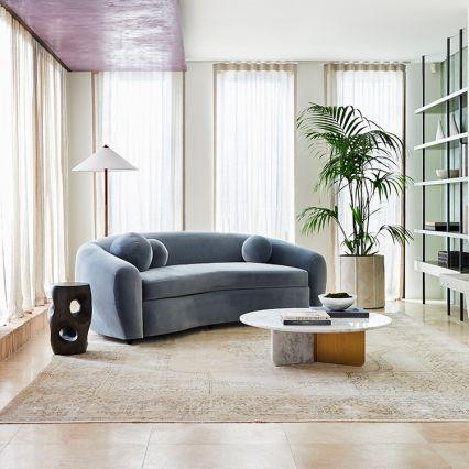 Tao Leather Floor Lamp