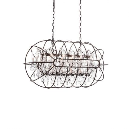 Gyro Crystal Rectangle Chandelier